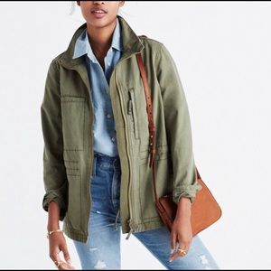 Madewell Fleet Olive Green Military Style Jacket size XS
